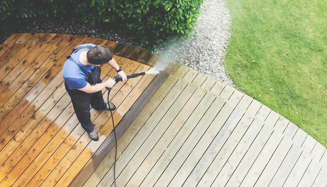 pressure washing porch